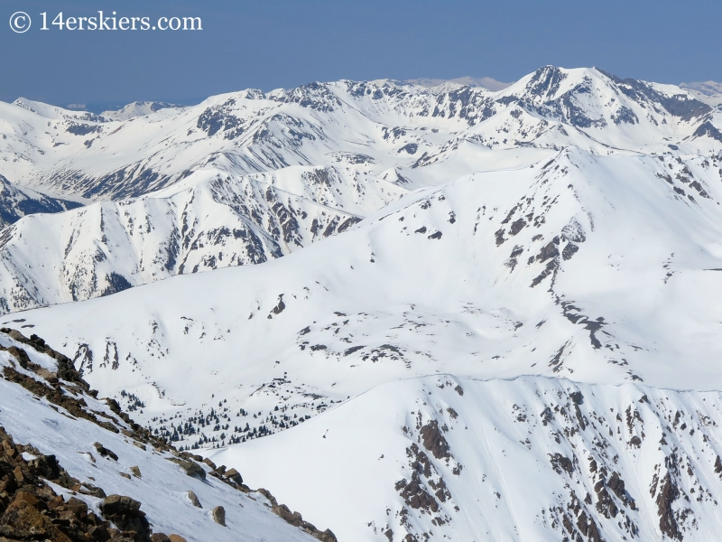 Sawatch Mountains seen from Mount Elbert Northwest Gullies
