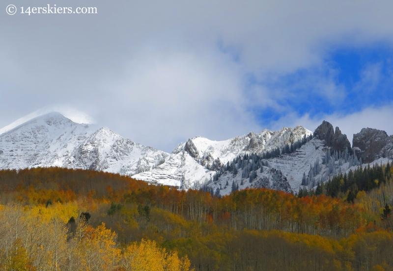 Fall with snowy peaks in Crested Butte