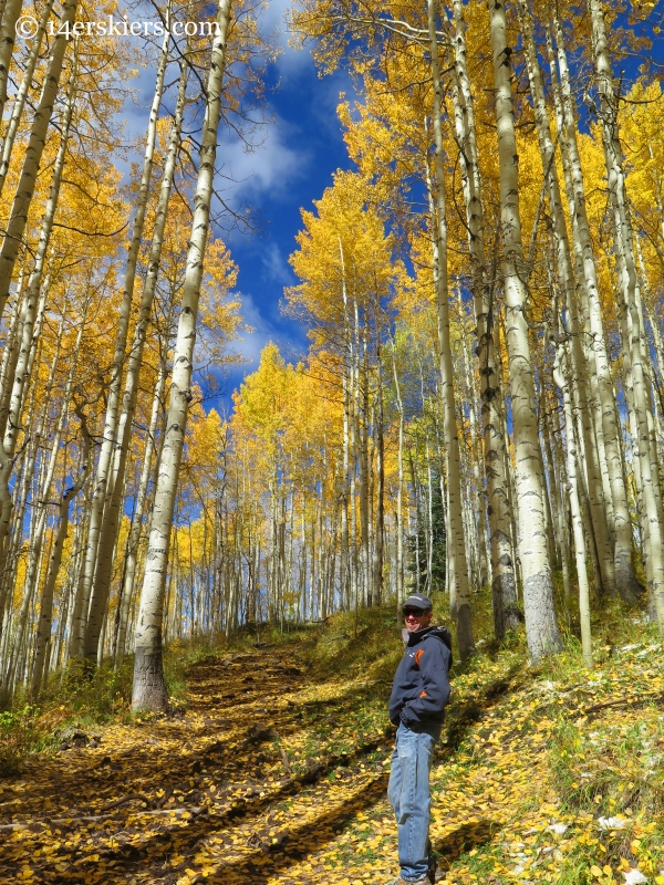 Frank Konsella with fall aspens near Crested Butte