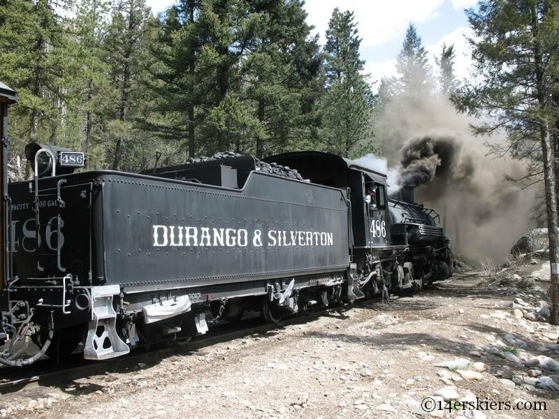 Engine on Durango Silverton Train