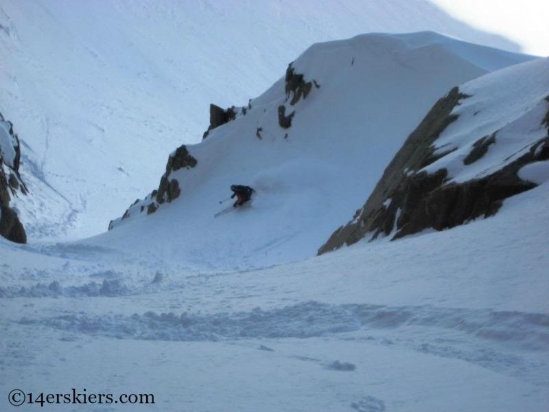 Frank Konsella backcountry skiing on Mout Eolus.