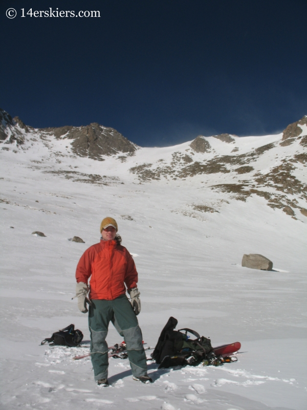 Dustin Sysko with Mount Evans behind