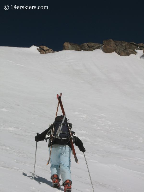 Brittany Walker Konsella climbing Mount Evans
