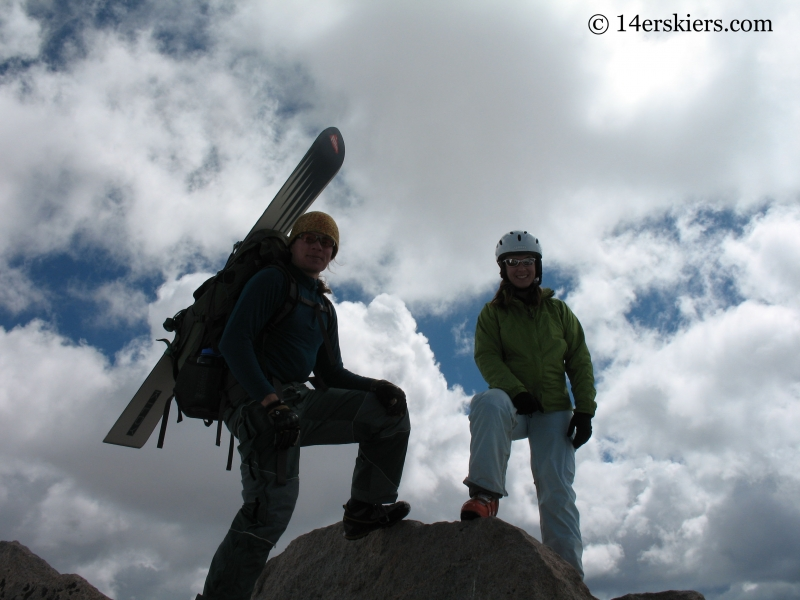 Dustin Sysko and Brittany Walker Konsella on the summit of Mount Evans.