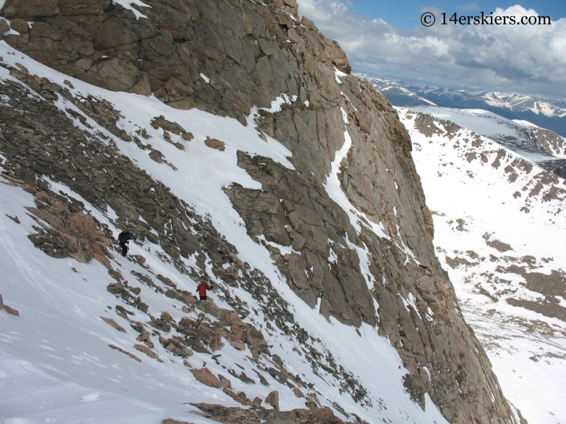 Backcountry skiing on Mount Evans.