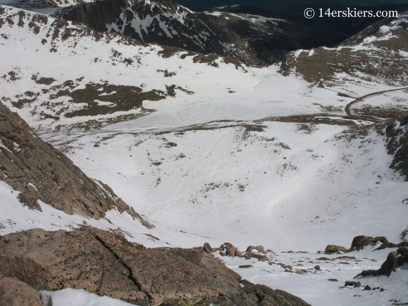 Mount Evans ski line, and Summit Lake below.