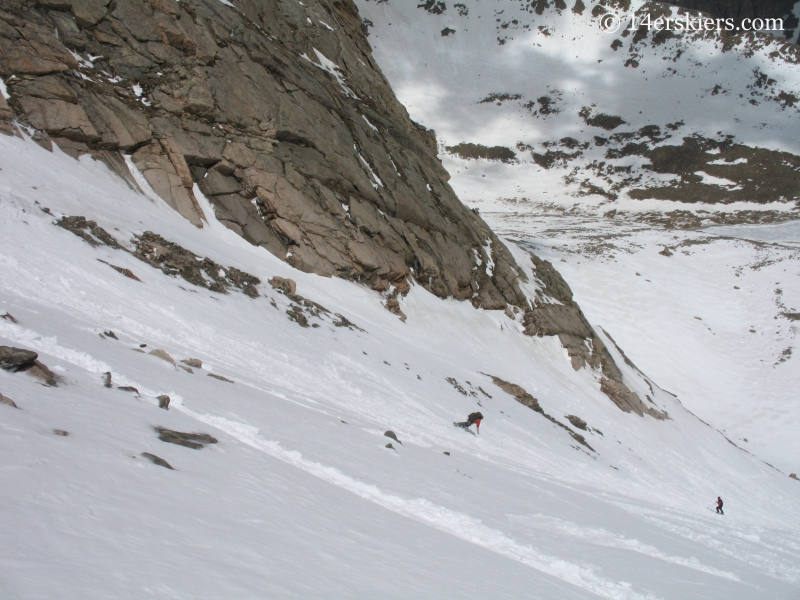 Dustin Sysko backcountry skiing on Mt Evans