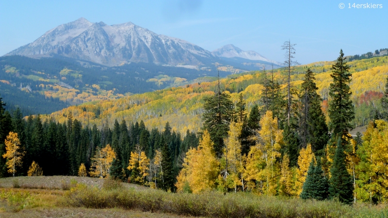 Fall colors in Crested Butte