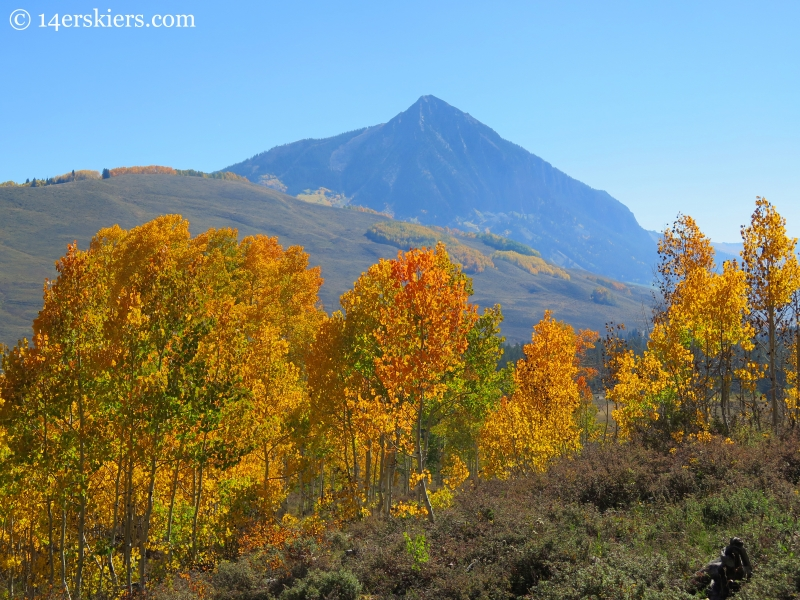 mount crested butte in fall