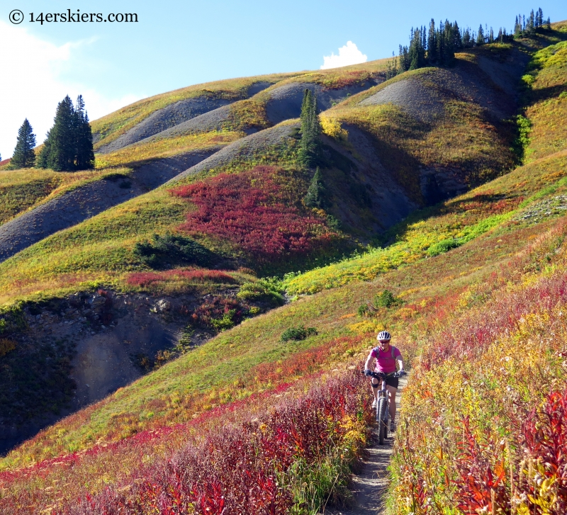 Mountain biking scenic 401 in Crested Butte