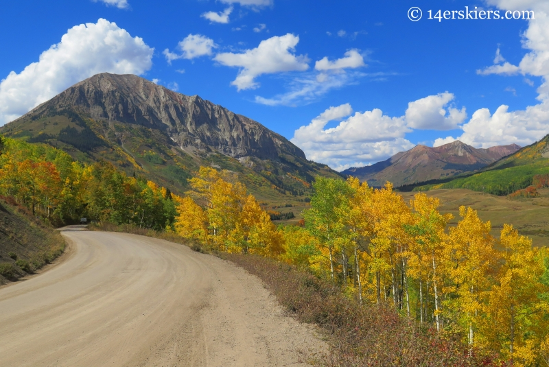 Gothic Road in fall in Crested Butte