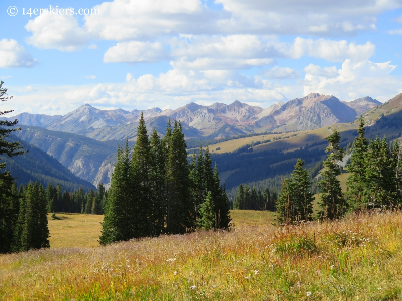 Raggeds seen from trail 401 near Crested Butte