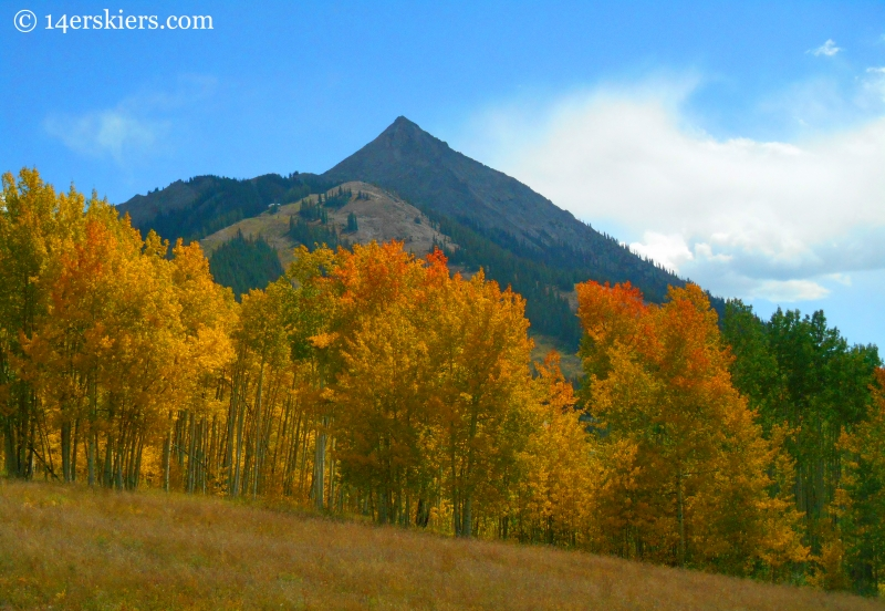 Mount Crested Butte in the fall