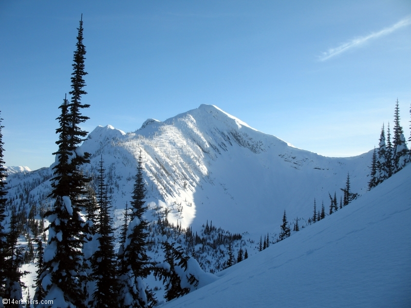 Backcountry skiing in Fernie, Canada