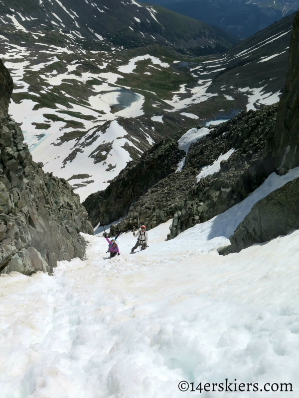Climbing Fletcher Mountain Northeast Couloirs
