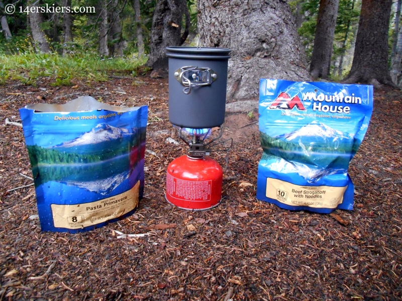 Mountain House meals while backpacking in the Fossil Ridge Wilderness