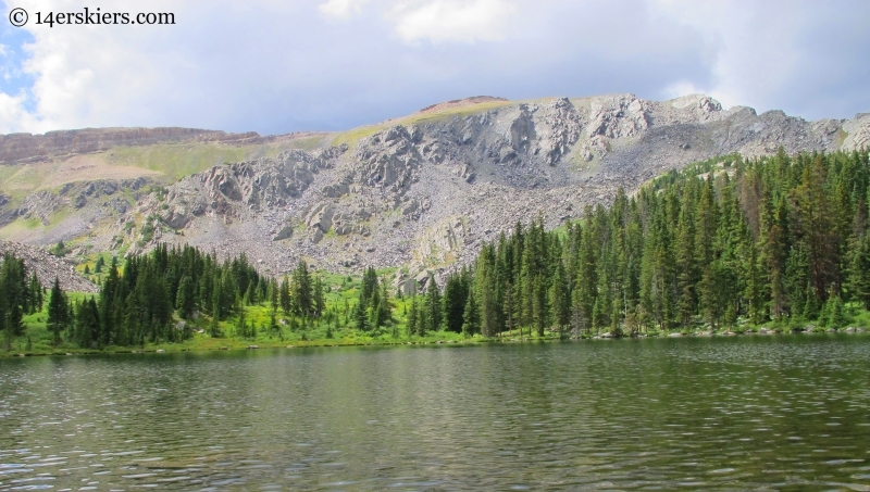 Square Top Mountain and Lamphier Lake while backpacking in the Fossil Ridge Wilderness