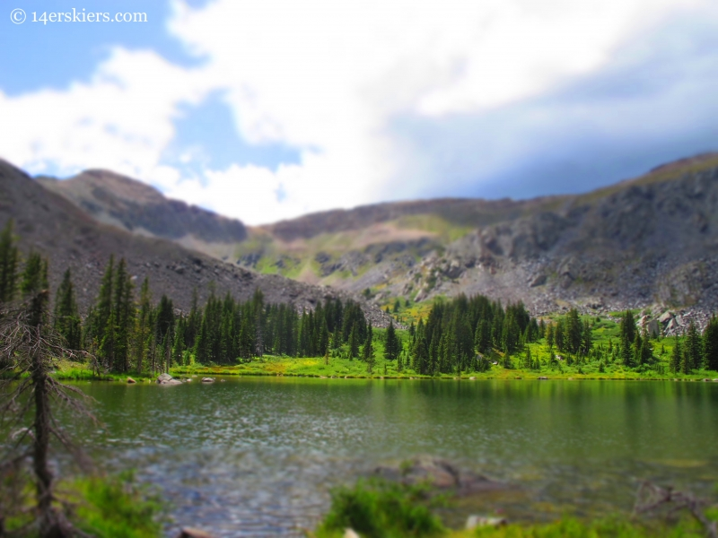 Lamphier Lake while backpacking in the Fossil Ridge Wilderness