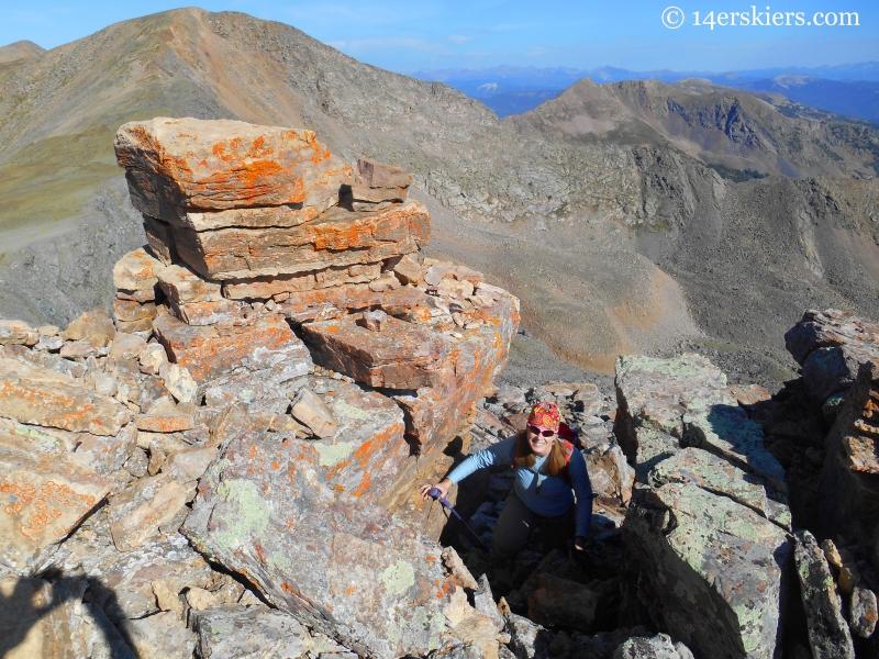 Square Top climb in Fossil Ridge Wilderness