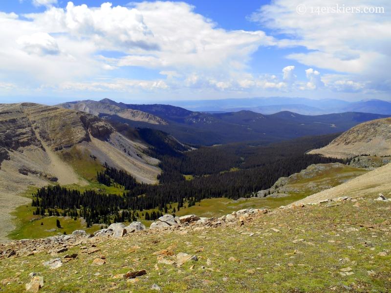 valley in Fossil Ridge Wilderness