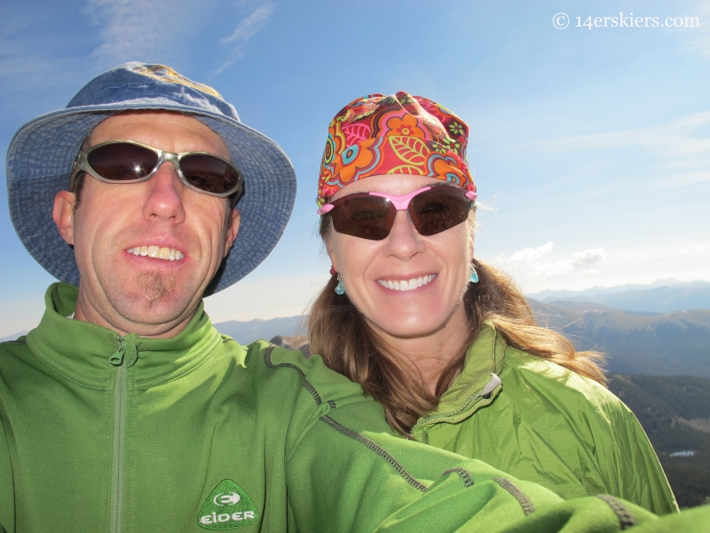 Frank and Brittany Konsella on the summit of Square Top Mountain