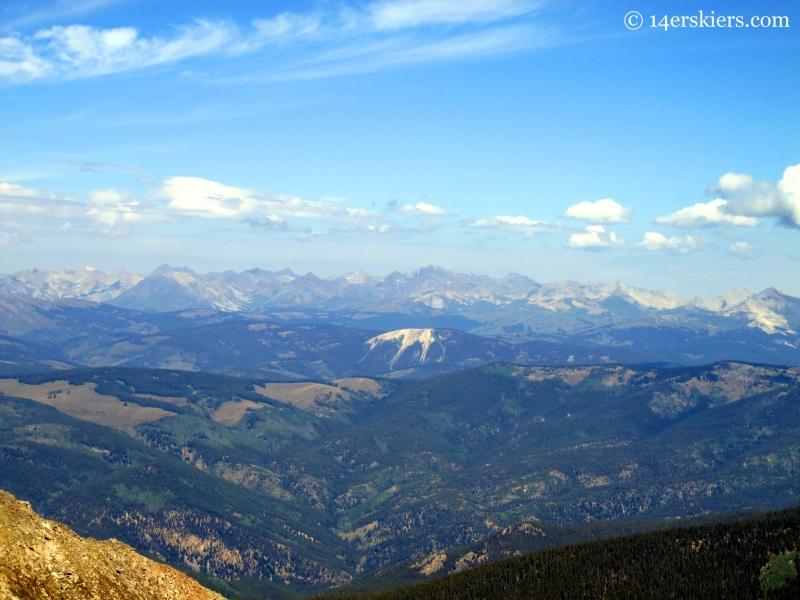 Elk Range seen from Henry Mountain