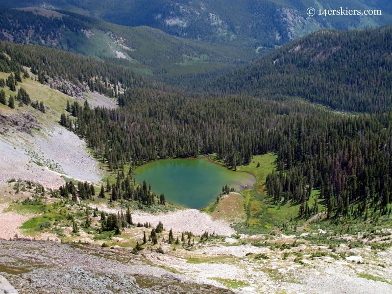 Mill Lake in the Fossil Ridge Wilderness