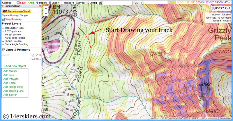 Using CalTopo with Gaia GPS App for backcountry skiing