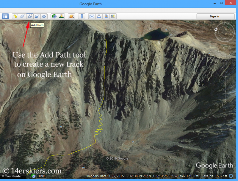 Using Google Earth for backcountry skiing.