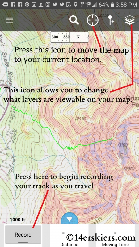 Using Gaia GPS App for backcountry skiing