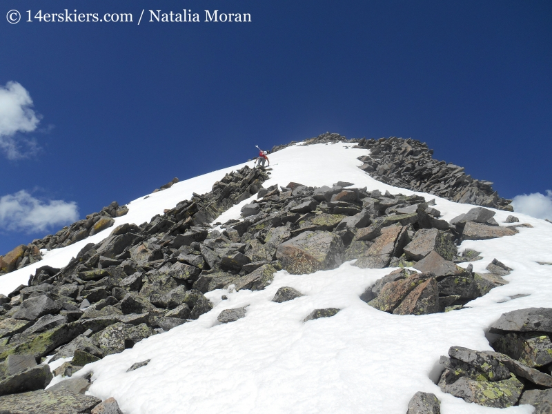 Approaching the summit on Gladstone Peak.