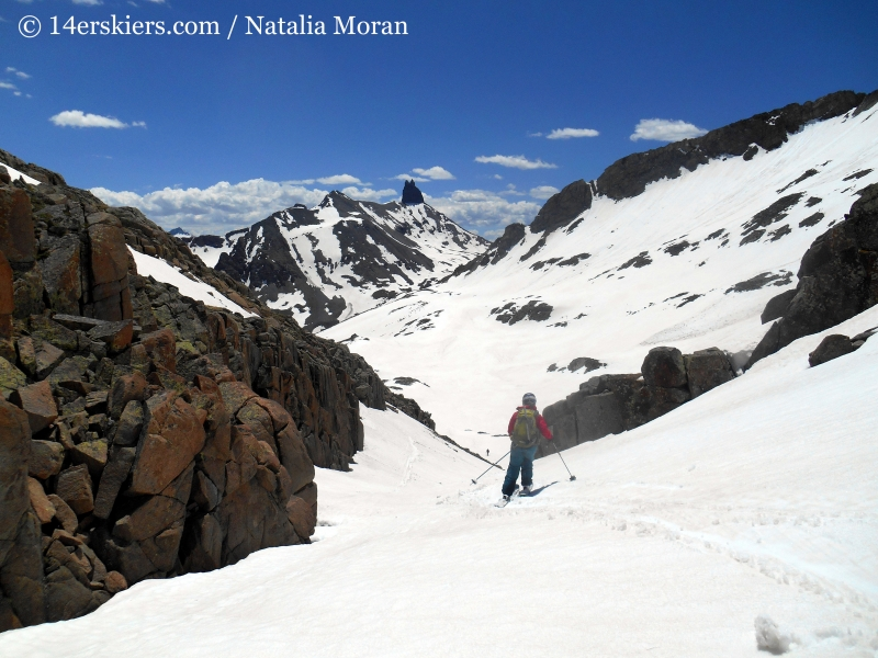 Backcountry skiing out of Bilk Basin.