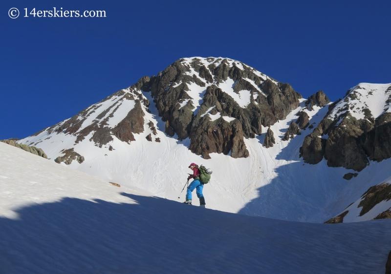 Natalia Moral with Wilson Peak.