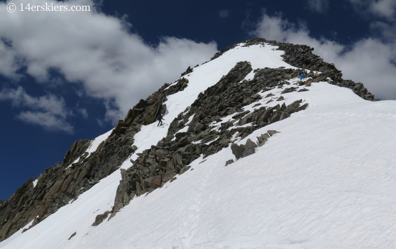Jaaron Mankins backcountry skiing on Gladsone Peak.