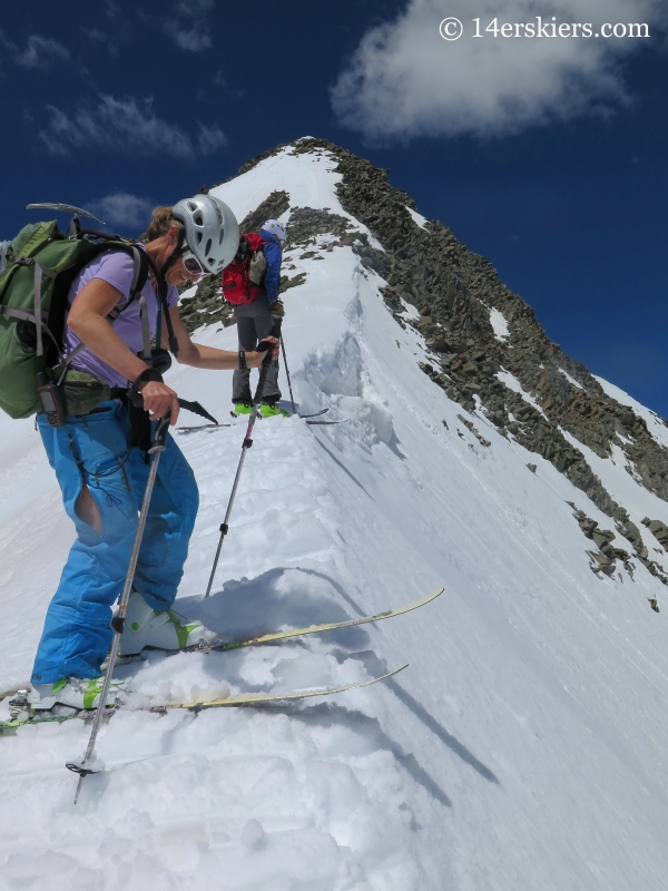 Getting ready to ski the north face of Gladstone Peak.