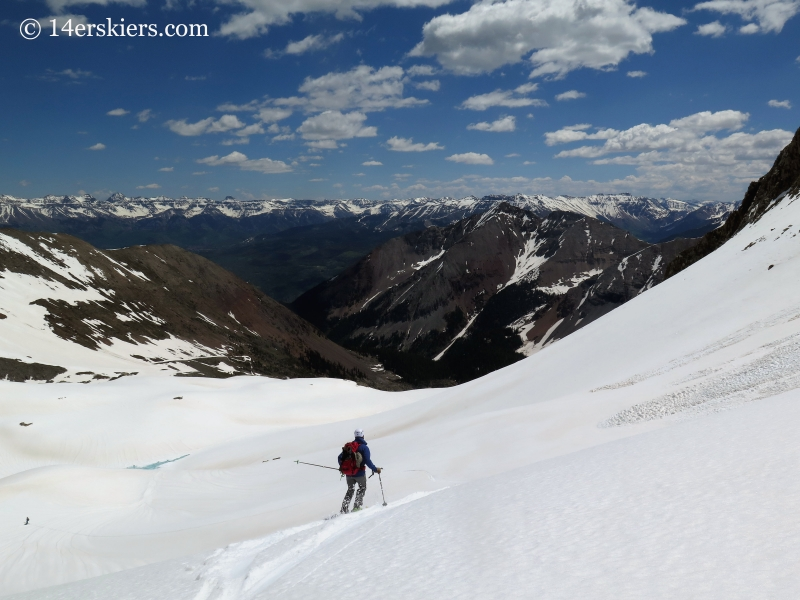 Backcountry skiing out Bilk Basin.