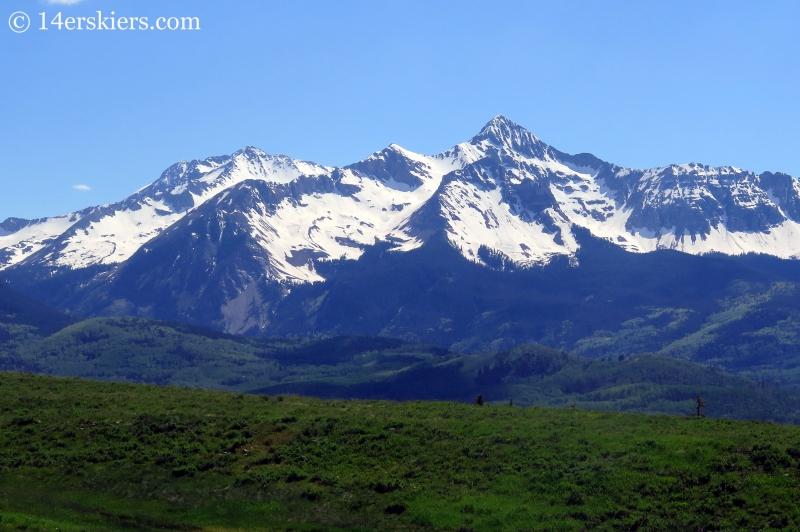 Wilson Peak with Gladstone Peak to the left.