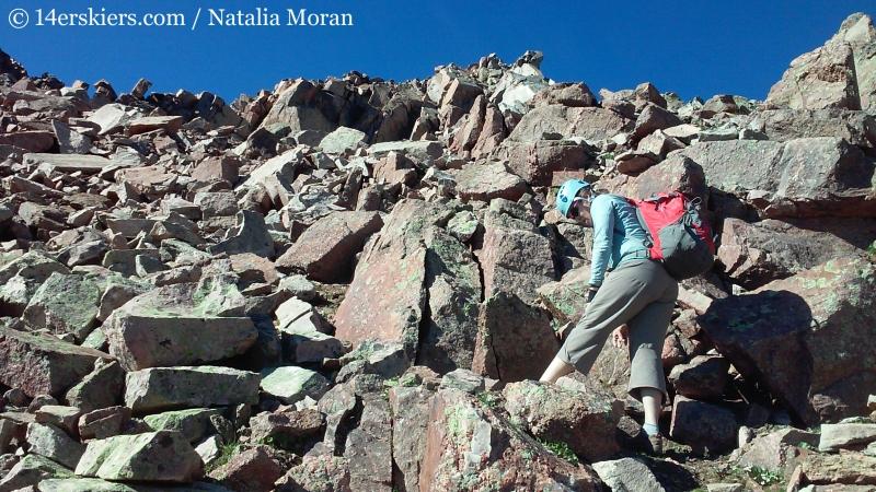 Brittany Konsella climbing Snow Peak.