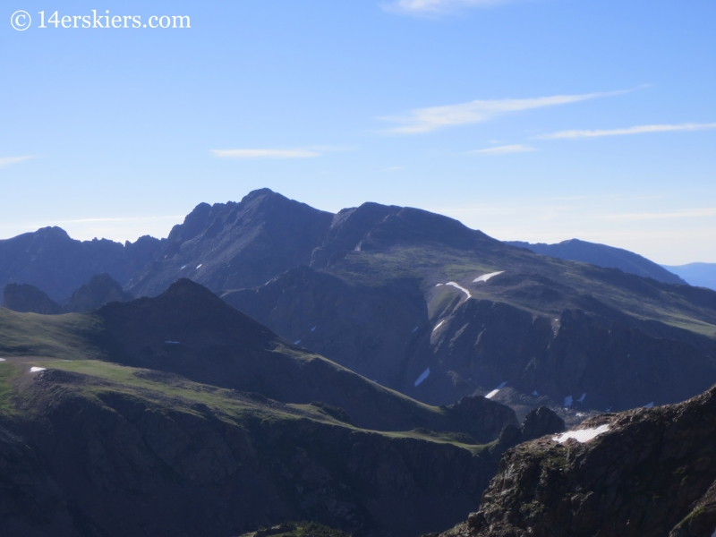 Views of Gore Range from Snow Peak.