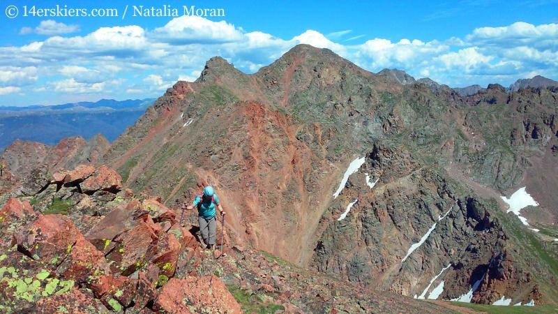Climbing Grand Traverse Peak.