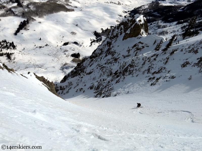 skiing towards gothic townsite