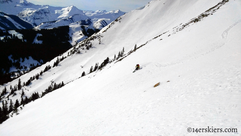 Backcountry skiing Gothic Mountain in Crested Butte
