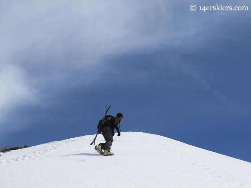 Jarrett climbing Gothic's ridge