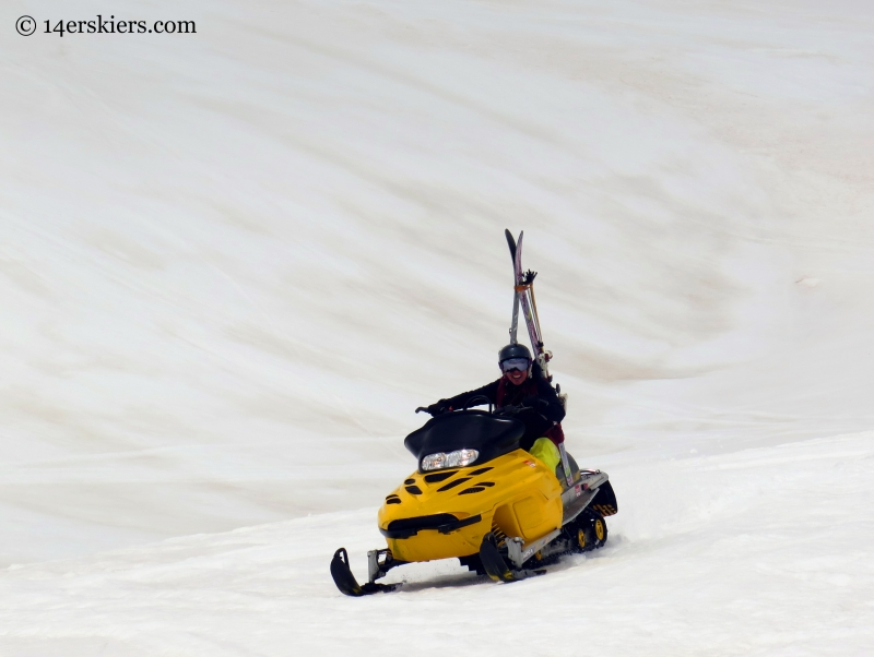 Jenny with her snowmobile