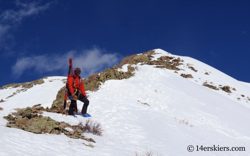 Jomah Fangonlino climbing Gothic Mountain.