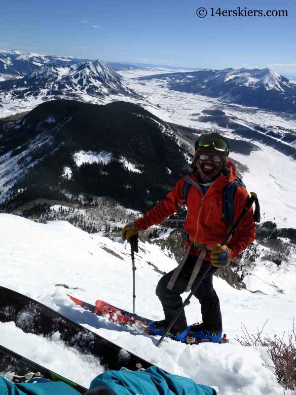 Jomah Fangonlino backcountry skiing on Gothic Mountain.