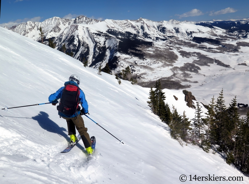Frank Konsella backcountry skiing on Gothic Mountain.