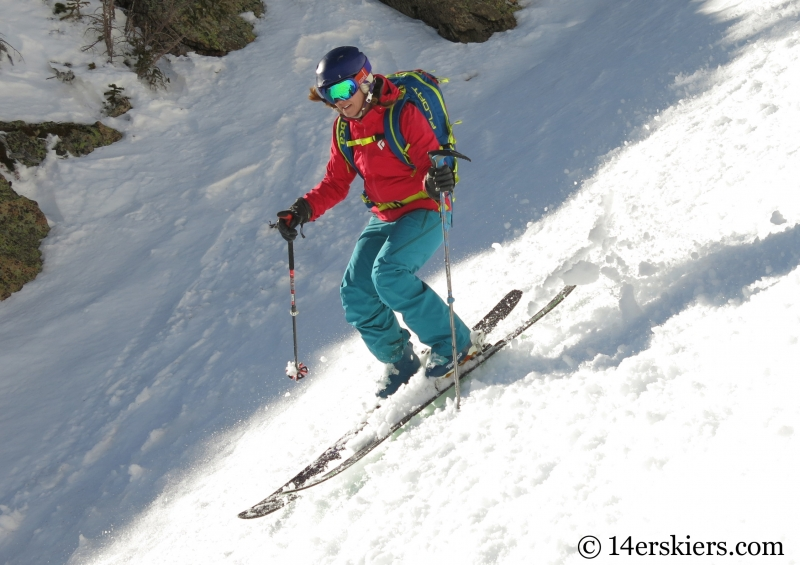 Brittany Konsella backcountry skiing on Gothic Fork.