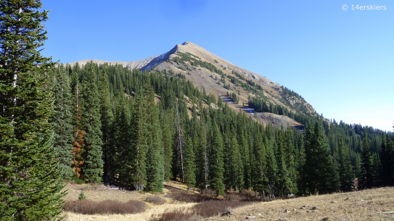 Hiking Gothic Mountain near Crested Butte, CO.