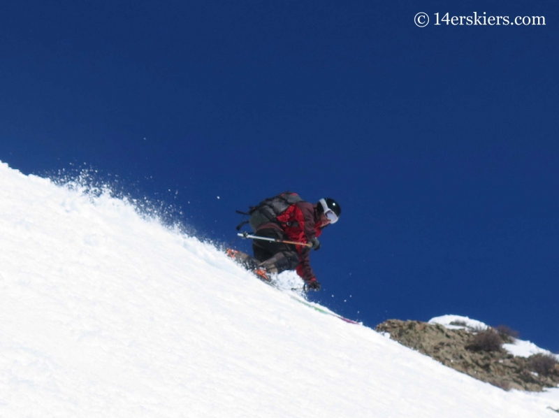 Mark Robbins skiing the Gothic Spoon near Crested Butte.